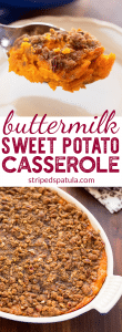 buttermilk sweet potato casserole recipe pin