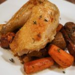 roasted chicken with root vegetables recipe