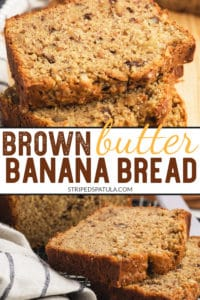 how to make brown butter and sour cream banana bread