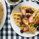 raised waffles with warm maple butter recipe