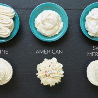 three vanilla frosting recipes