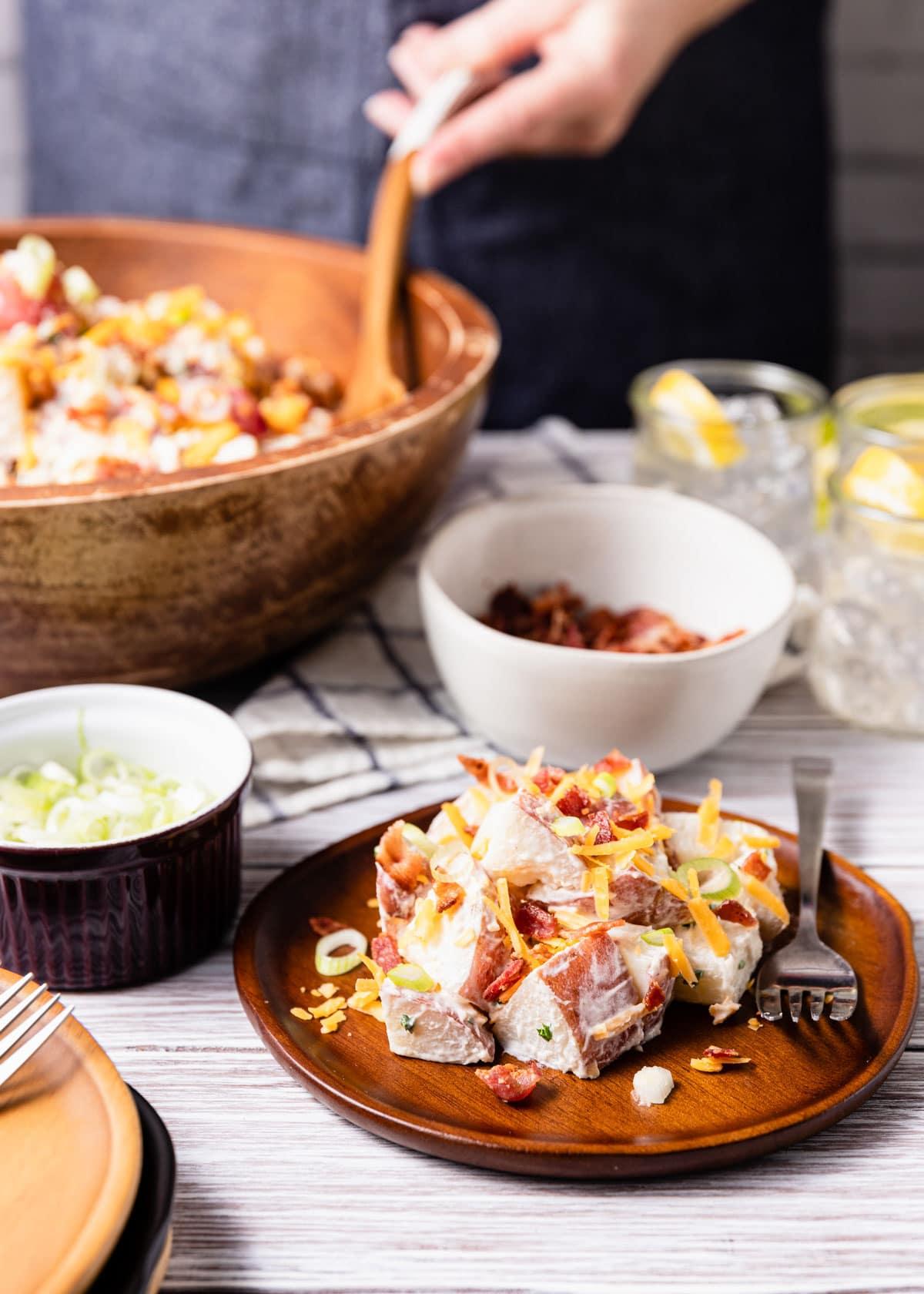 Loaded Potato Salad With Bacon Recipe