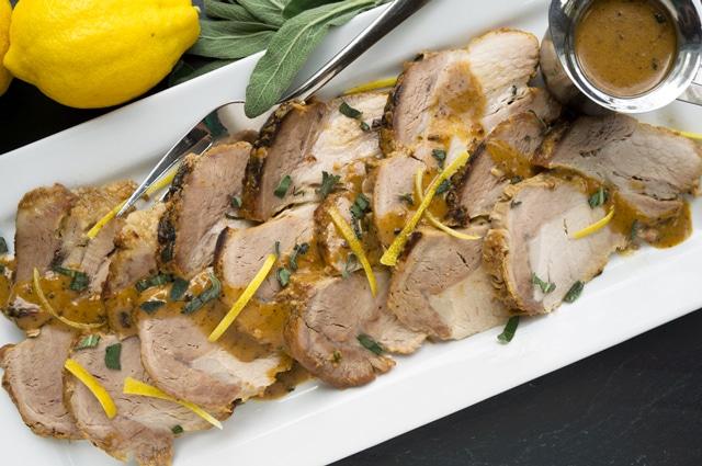 Pork Loin Braised in Milk and Cream