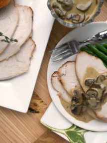 roasted capon with mustard cognac sauce recipe