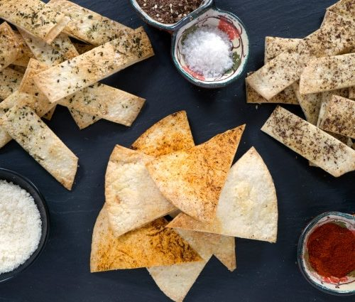 Flour Tortilla Chips Baked For A Light And Crispy Snack