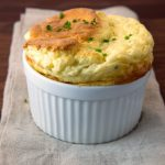 roasted cauliflower and goat cheese souffles