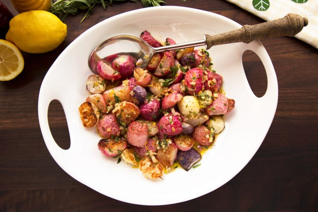 roasted radishes with tarragon vinaigrette recipe