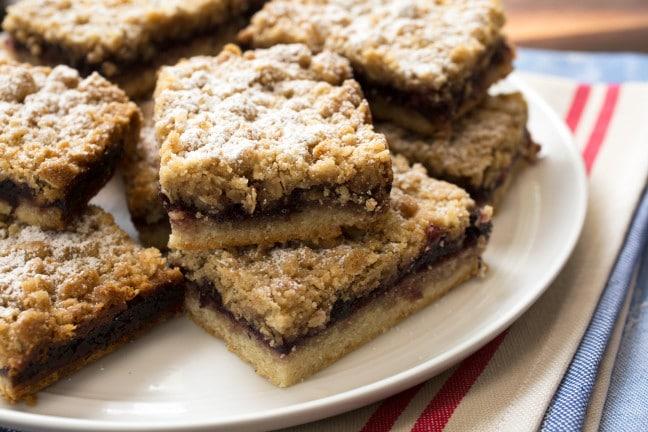 Bakery-Style Jam Crumble Bars