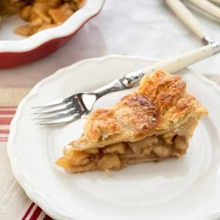our favorite apple pie recipe with par-cooked filling