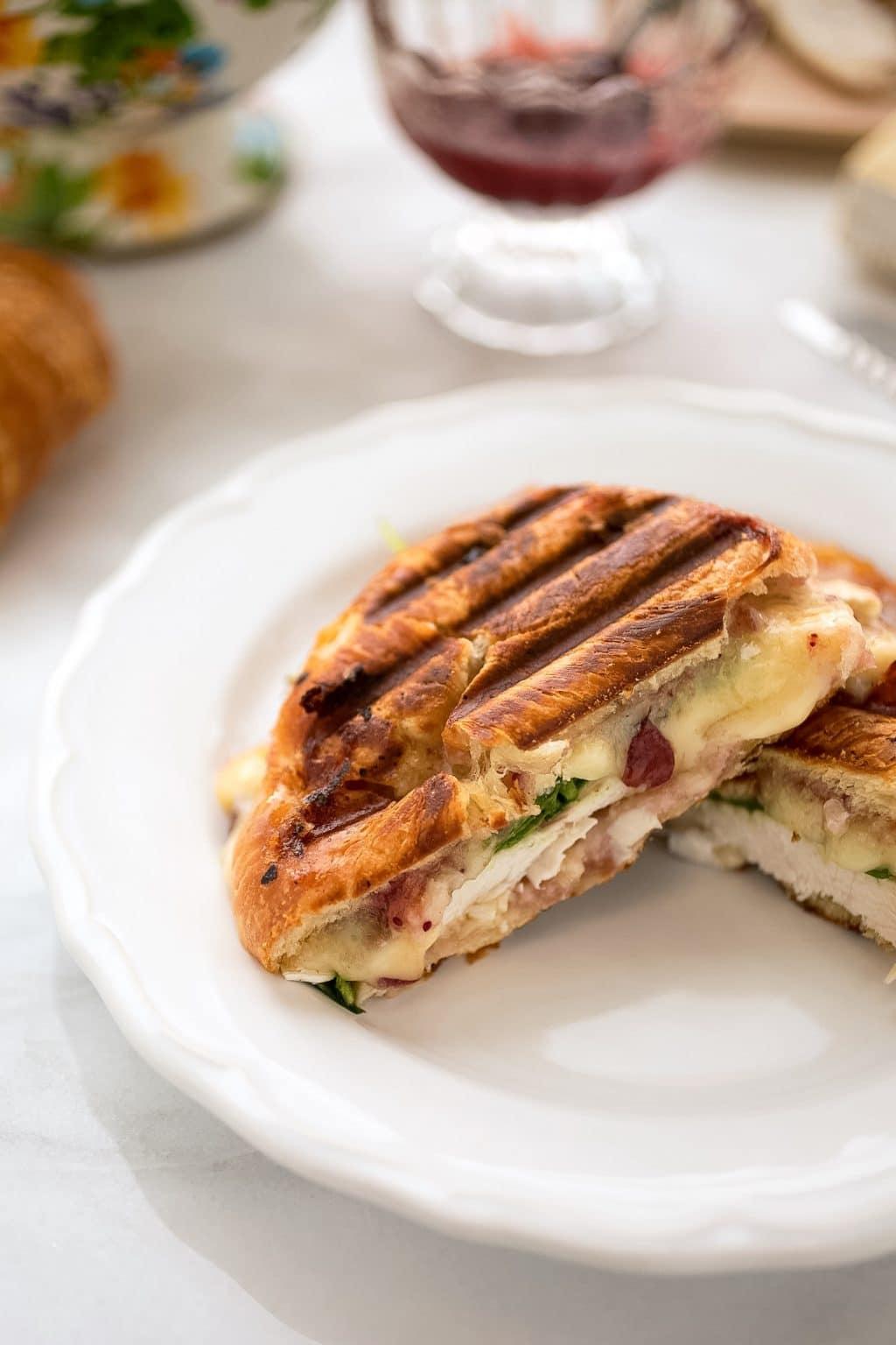Turkey Croissant Panini Striped Spatula