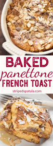 baked panettone french toast recipe pin