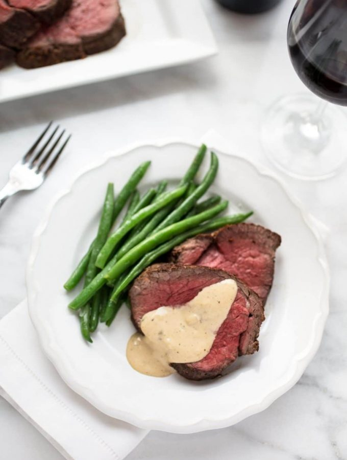 beef tenderloin with cognac cream sauce