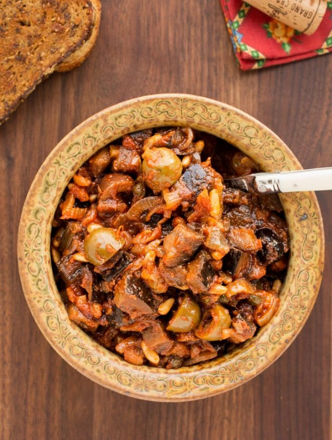 caponata italian eggplant appetizer recipe