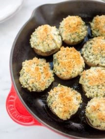 spinach and artichoke stuffed mushrooms recipe