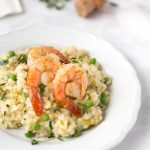 champagne and leek risotto with roasted shrimp recipe