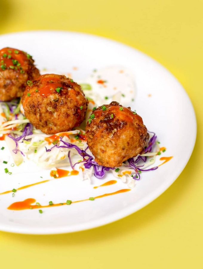 Chef Evan Blomgren's Buffalo Chicken Meatballs