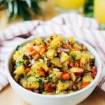 grilled pineapple salsa recipe in a bowl