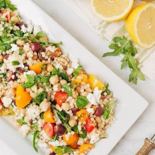Mediterranean Pearled Couscous Salad