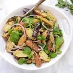 french potato salad with baby arugula recipe
