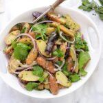 french potato salad with baby arugula recipe