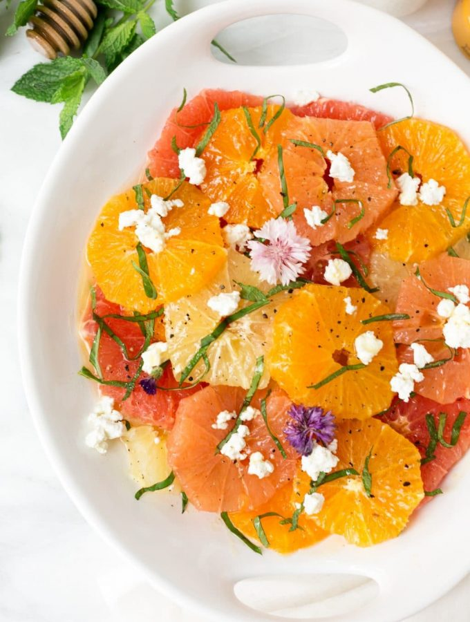 Mixed Citrus Salad with Honey-Balsamic Vinaigrette