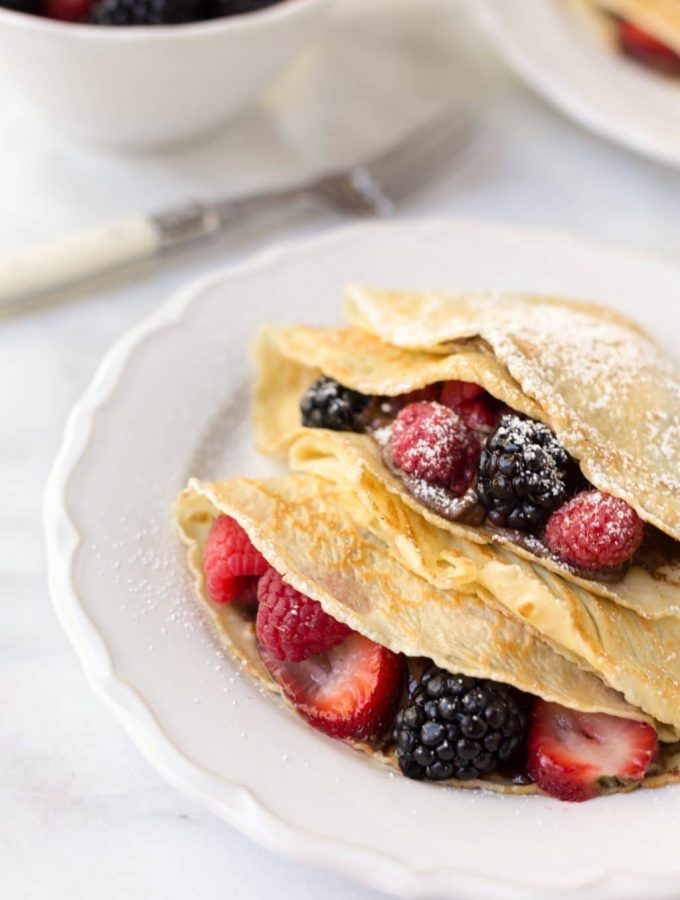 crepes with nutella and fruit #sponsored #nycwff