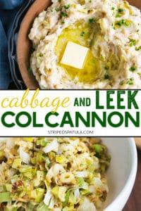how to make irish colcannon with leeks and cabbage