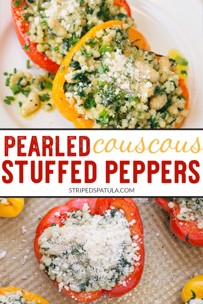 how to make vegetarian couscous stuffed peppers