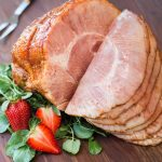 strawberry chipotle glazed ham #sponsored