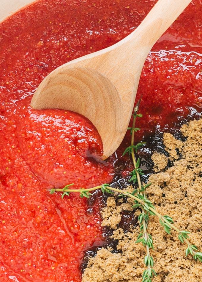 strawberry chipotle ham glaze [sponsored]