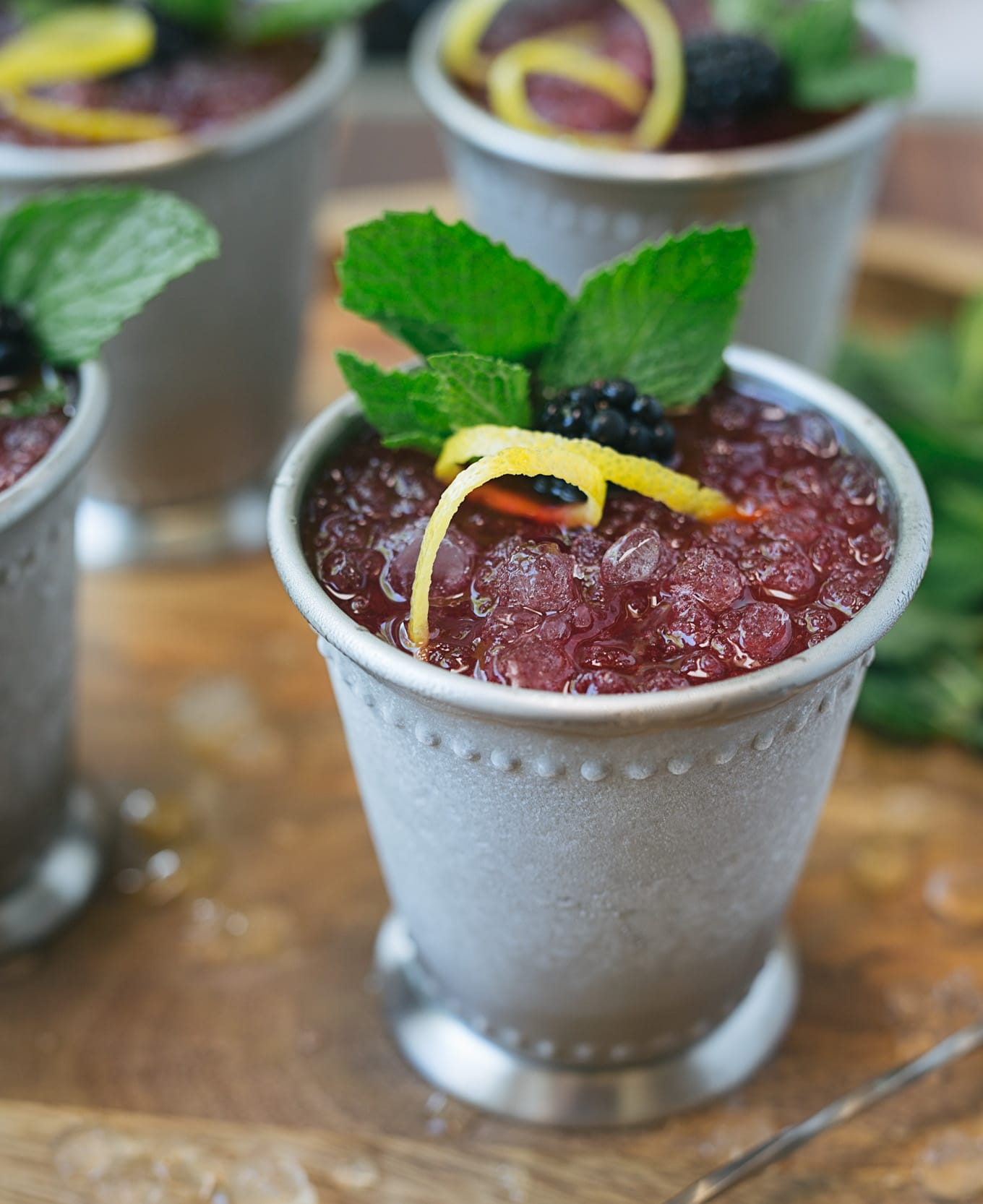 Blackberry-Lemon Mint Juleps