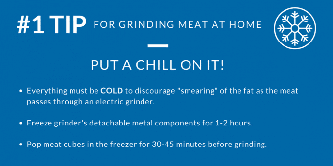tips for grinding meat at home