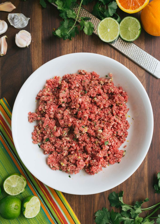 ground beef with mojo panade
