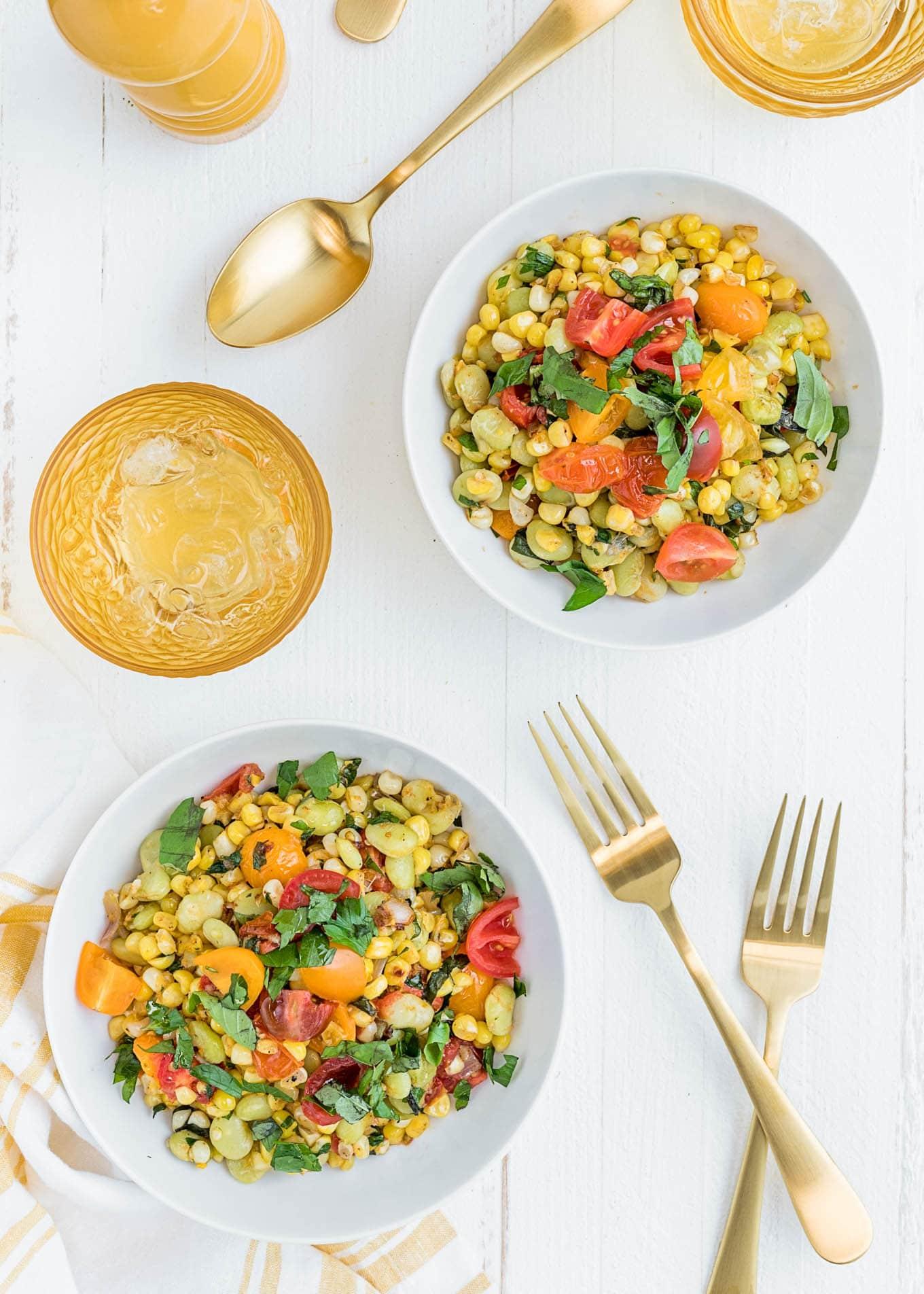 simple corn succotash recipe