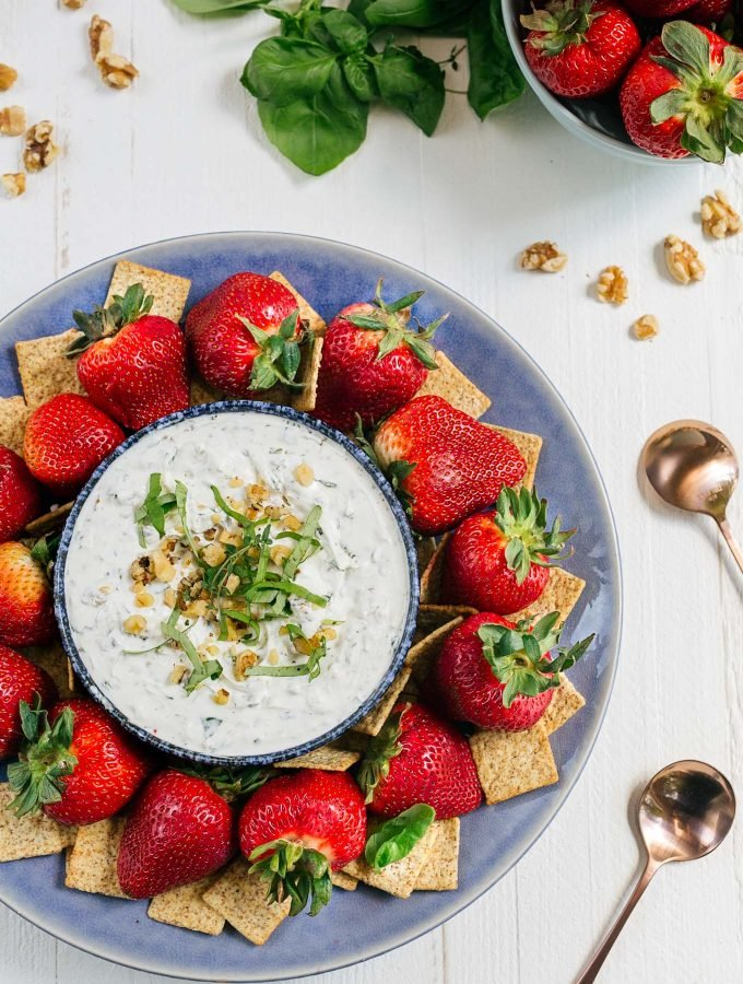 whipped goat cheese and herb dip [sponsored]