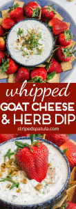 whipped goat cheese and herb dip recipe [sponsored]