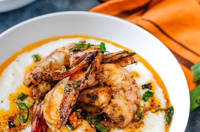 grilled cajun shrimp and grits recipe