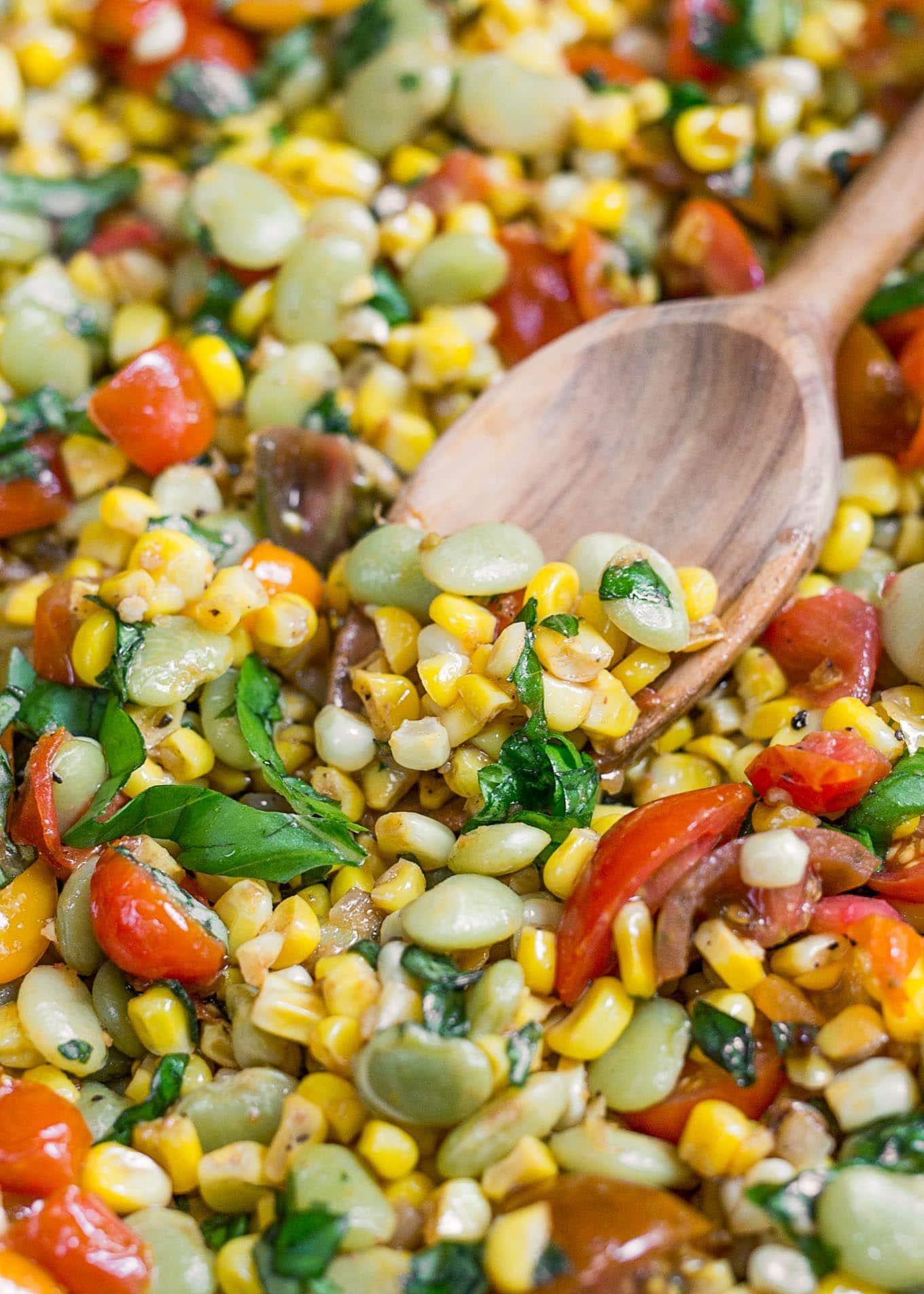 easy corn succotash recipe