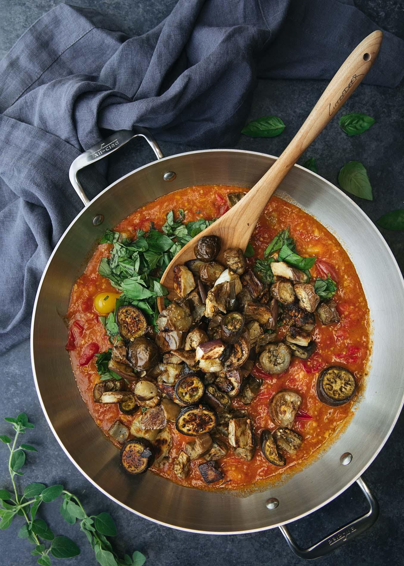 roasted eggplant and cherry tomato sauce recipe