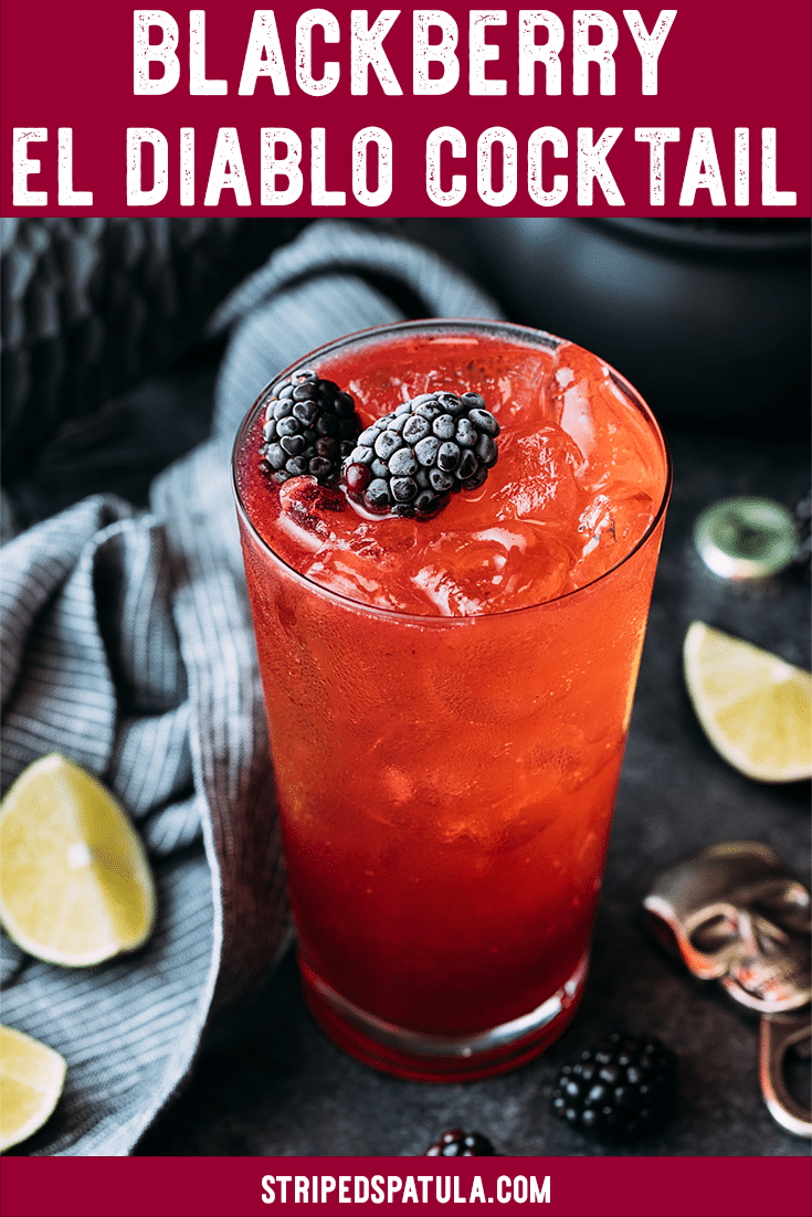 this blackberry el diablo halloween cocktail is a devilish tequila cocktail perfect for your adult halloween