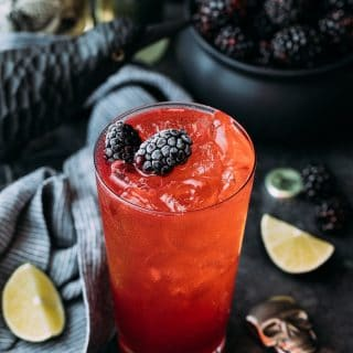 sponsored blackberry el diablo halloween cocktail recipe