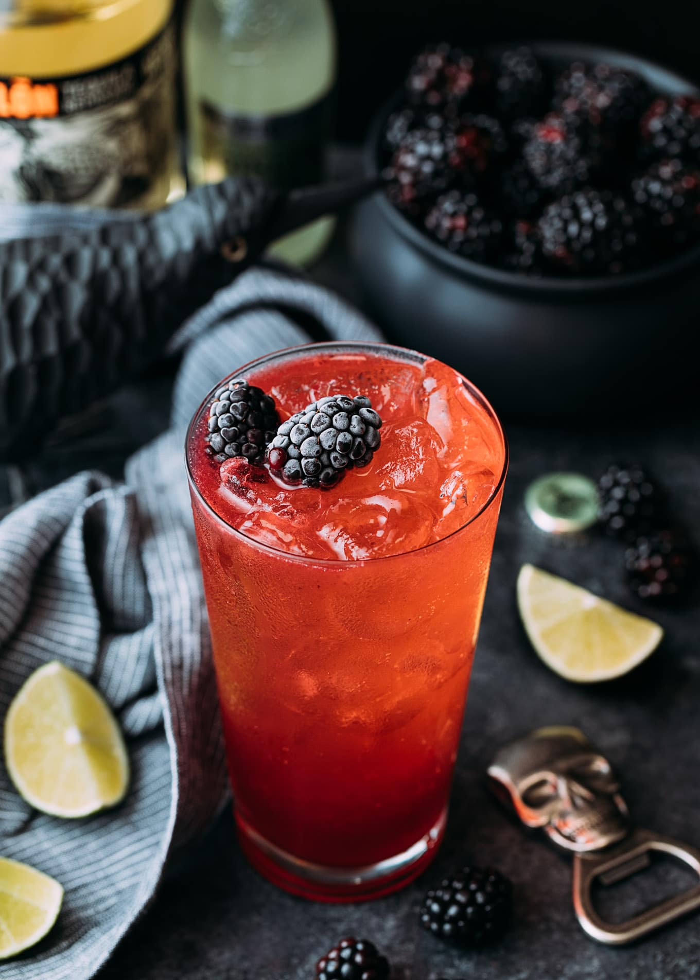 halloween cocktail recipe: blackberry el diablo