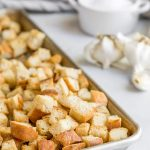 homemade garlic croutons recipe | how to make croutons