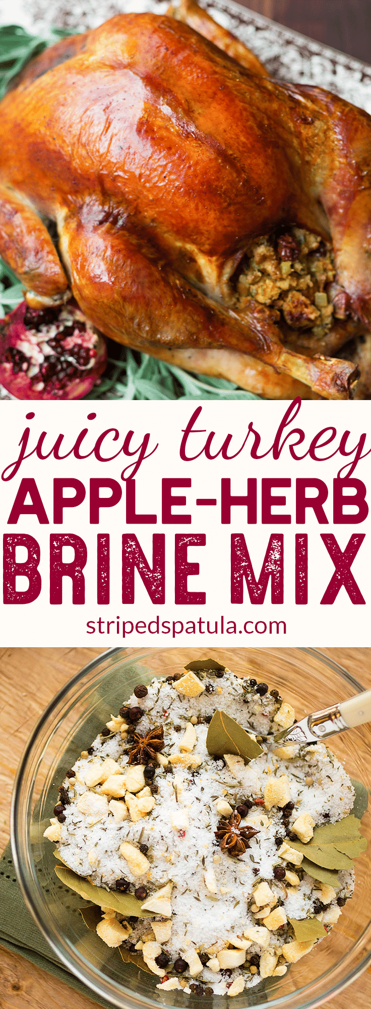 Apple Herb Turkey Brine | Thanksgiving Recipes |  Turkey Recipes |  Juicy Turkey Thanksgiving | #thanksgiving #thanksgivingrecipes #turkeyrecipe #thanksgivingideas