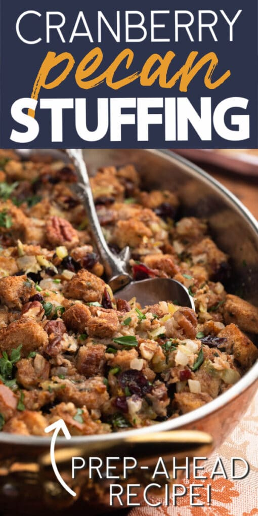 how to make cranberry pecan stuffing