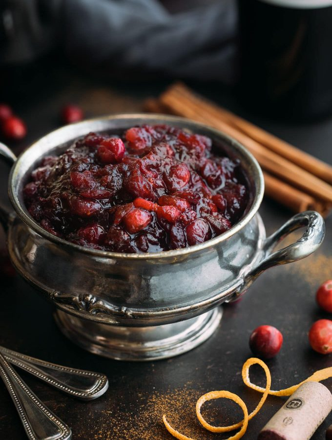 mulled wine cranberry sauce recipe