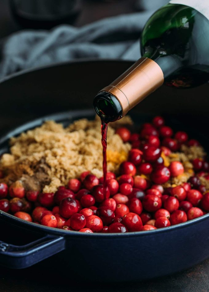red wine for cranberry sauce