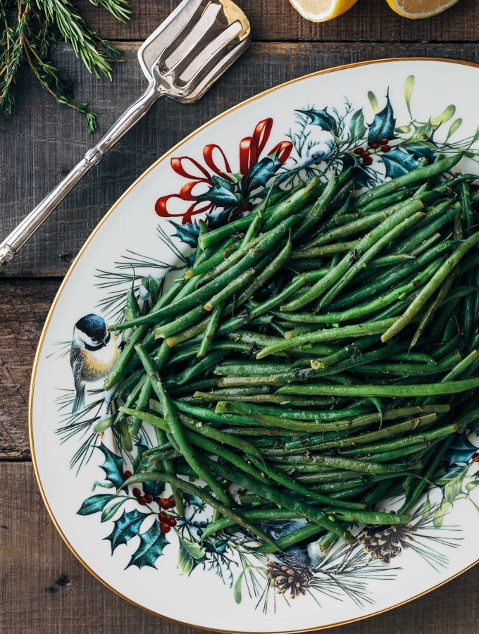 Haricots Verts with Lemon-Herb Brown Butter