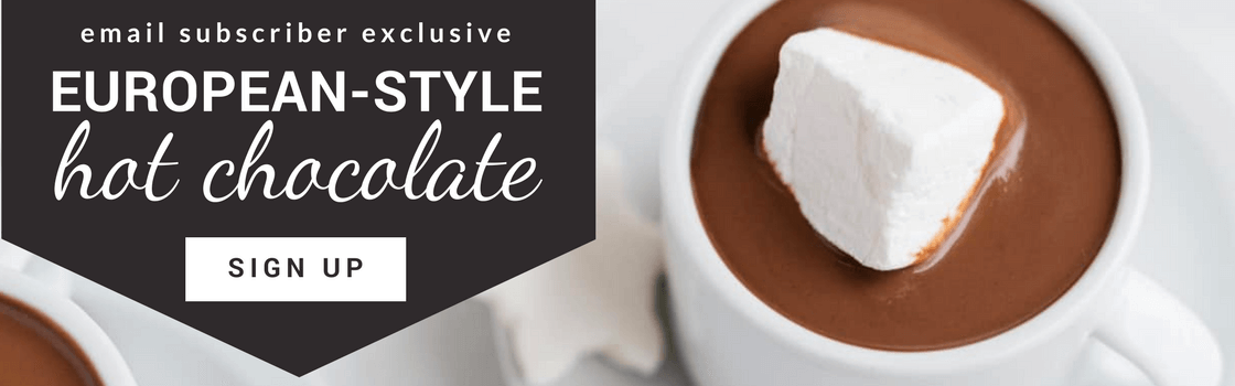 european style hot chocolate subscription lead