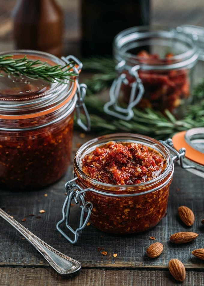 Sun-Dried Tomato Pesto (Pesto Rosso) - an easy Sicilian condiment that is gluten-free and vegan!